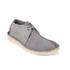Clarks Originals Men's Desert Trek Leather Boots - Blue/Grey: Image 4