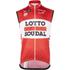 Lotto Soudal Kaos Gilet 2016 - Red/White: Image 1