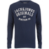 Jack & Jones Men's Seek Crew Neck Sweatshirt - Navy Blazer: Image 1