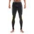 Skins DNAmic Men's Long Tights - Black/Citron: Image 3