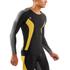 Skins DNAmic Men's Long Sleeve Top - Black/Citron: Image 3