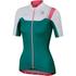 Sportful BodyFit Women's Short Sleeve Jersey - Green/White/Pink: Image 1
