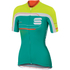 Sportful Gruppetto Women's Short Sleeve Jersey - Green/White/Yellow: Image 1