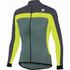 Sportful Pista Long Sleeve Jersey - Green/Yellow/Grey: Image 1