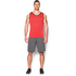 Under Armour Men's Tech Tank Top - Red/Black: Image 3