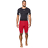 Under Armour Men's HeatGear Long Compression Shorts - Red/Black: Image 3