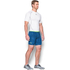 Under Armour Men's HeatGear Armour Printed Compression Shorts - Blue/Yellow: Image 4