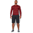 Under Armour Men's ColdGear Armour Twist Compression Crew Top - Red/Black: Image 3