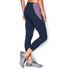 Under Armour Women's Mirror Printed Crop Leggings - Navy Blue: Image 4