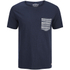 Jack & Jones Men's Originals Raw Stripe Pocket T-Shirt - Dark Blue Denim: Image 1
