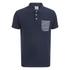 Jack & Jones Men's Originals Extra Stripe Pocket Polo Shirt - Navy/White: Image 1