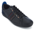 PS by Paul Smith Men's Osmo Leather Trainers - Black Mono Lux: Image 2