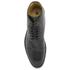 H Shoes by Hudson Men's Seymour Leather Toe Cap Lace Up Boots - Black: Image 3