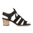 Dune Women's Ivanna Nubuck Strappy Heeled Sandals - Black: Image 1