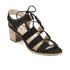 Dune Women's Ivanna Nubuck Strappy Heeled Sandals - Black: Image 2