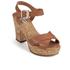 Dune Women's Iyla Leather Platform Heeled Sandals - Tan: Image 2