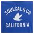 Soul Cal Men's Cracked Print T-Shirt - Cobalt Blue: Image 3