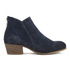 H Shoes by Hudson Women's Apisi Suede Heeled Ankle Boots - Navy: Image 1
