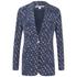 Diane von Furstenberg Women's Vinley Jacket - Daisy Buds Tiny New Indigo: Image 1