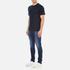 Carhartt Men's Short Sleeve Base T-Shirt - Navy/White: Image 4