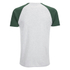 Brave Soul Men's Baptist Raglan Sleeve T-Shirt - Ecru/Bottle Green: Image 2
