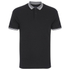 Threadbare Men's Warsaw Tipped Polo Shirt - Black: Image 1