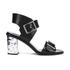 McQ Alexander McQueen Women's Shackwell Strap Heeled Sandal - Black: Image 1