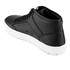 ETQ. Men's High Top 1 Rubberized Leather Trainers - Black: Image 4