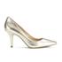 MICHAEL MICHAEL KORS Women's MK Flex Leather Court Shoes - Pale Gold: Image 1