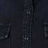 MSGM Women's Logo Back Oversized Denim Shirt - Black: Image 6