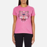 KENZO Women's Tiger Embroidered T-Shirt - Begonia: Image 1