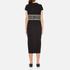 KENZO Women's Stripe Logo Mid Cotton Dress - Black: Image 3