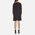 KENZO Women's Flare Dress with Piping and Buttons - Black: Image 3