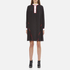 KENZO Women's Flare Dress with Piping and Buttons - Black: Image 1