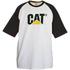 Caterpillar Men's Raglan Trademark T-Shirt - White: Image 1