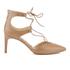 Sam Edelman Women's Taylor Leather Lace Up Court Shoes - Golden Caramel: Image 1
