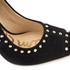 Sam Edelman Women's Hayden Suede Studded Court Shoes - Black: Image 5