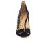 Sam Edelman Women's Hayden Suede Studded Court Shoes - Black: Image 4