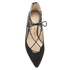 Sam Edelman Women's Rosie Suede/Leather Lace Up Flats - Black: Image 3