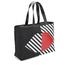 Lulu Guinness Women's Larysa 50:50 Lips Large Stripe Tote Bag - Black/White/Red: Image 3