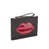 Lulu Guinness Women's Grace Medium Lips Clutch - Black/Red: Image 3