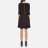 BOSS Orange Women's Dipleat Jersey Dress - Black: Image 3