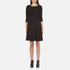 BOSS Orange Women's Dipleat Jersey Dress - Black: Image 1