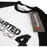 Uncharted 4 Herren Logo Raglan T-Shirt - Weiss/Schwarz: Image 3