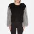 Charlotte Simone Women's Classic Fuzz Jacket - Black/Charcoal Grey - S/M: Image 1