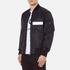 MSGM Men's Bomber Jacket with Reflective Strip - Black: Image 2