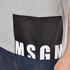 MSGM Men's Bottom Panel Logo T-Shirt - Grey: Image 7