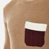 MSGM Men's Contrast Pocket Knitted Jumper - Brown: Image 5
