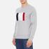 AMI Men's AMI Logo Crew Neck Sweatshirt - Heather Grey: Image 2