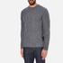 Barbour Heritage Men's Barnard Cable Knitted Jumper - Denim Mix: Image 2